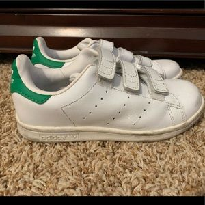 Adidas White and Green Shoes